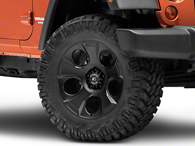 Rugged Ridge Drakon Satin Black Wheel - 20x9 (07-18 Wrangler JK; 2018 Wrangler JL)