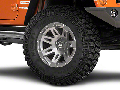 Rugged Ridge XHD Gun Metal Gray Wheel - 18x9 (07-18 Jeep Wrangler JK; 2018 Jeep Wrangler JL)