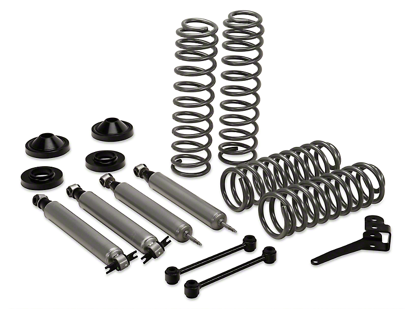 Rough Country 3.25-Inch Suspension Lift Kit with Shocks (07-18 Jeep Wrangler JK 2 Door)