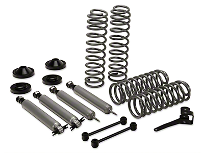 Rough Country 3.25 in. Suspension Lift Kit w/ Shocks (07-17 Wrangler JK 2 Door)