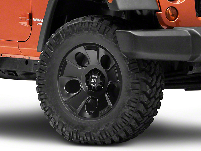 Rugged Ridge Drakon Satin Black Wheel; 18x9 (07-18 Jeep Wrangler JK)