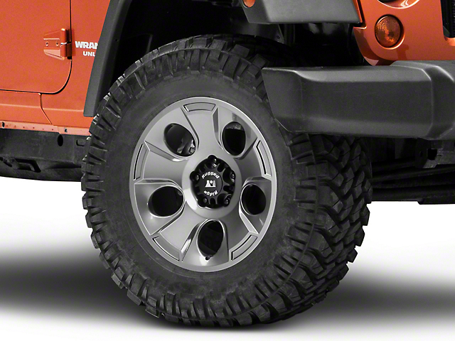 Rugged Ridge Drakon Gunmetal Gray Wheel; 18x9 (07-18 Jeep Wrangler JK)