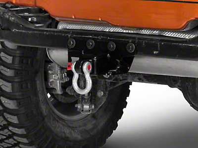 Rugged Ridge 2 in. Receiver Hitch Kit w/ D-Shackle Assembly (07-18 Jeep Wrangler JK)