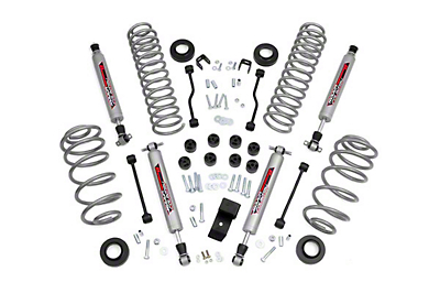 Rough Country 3.25 in. Lift Kit w/ Shocks (03-06 Jeep Wrangler TJ w/4 Cyl)