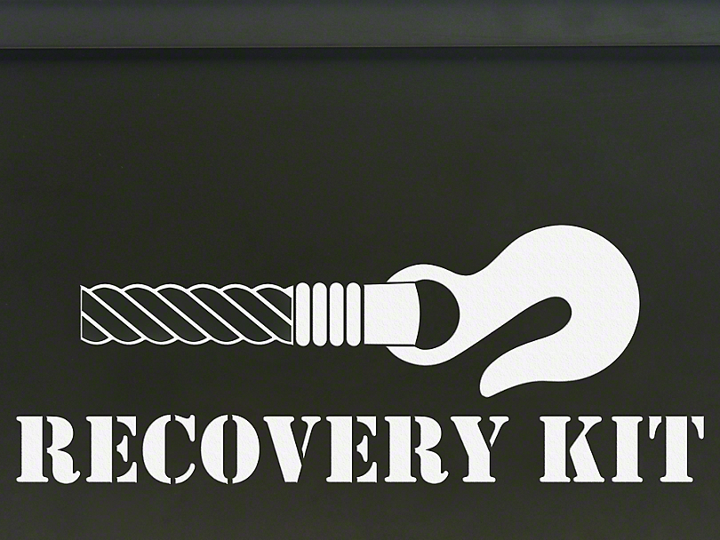Recovery Kit Decal - White (87-19 Jeep Wrangler YJ, TJ, JK & JL)