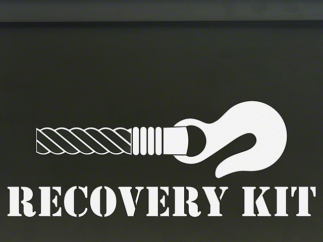 Recovery Kit Decal - White (87-20 Jeep Wrangler YJ, TJ, JK & JL)