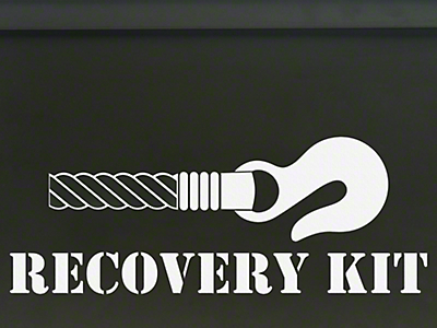 Recovery Kit Decal - White (87-18 Jeep Wrangler YJ, TJ, JK & JL)