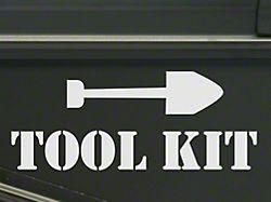 Tool Kit Decal- White