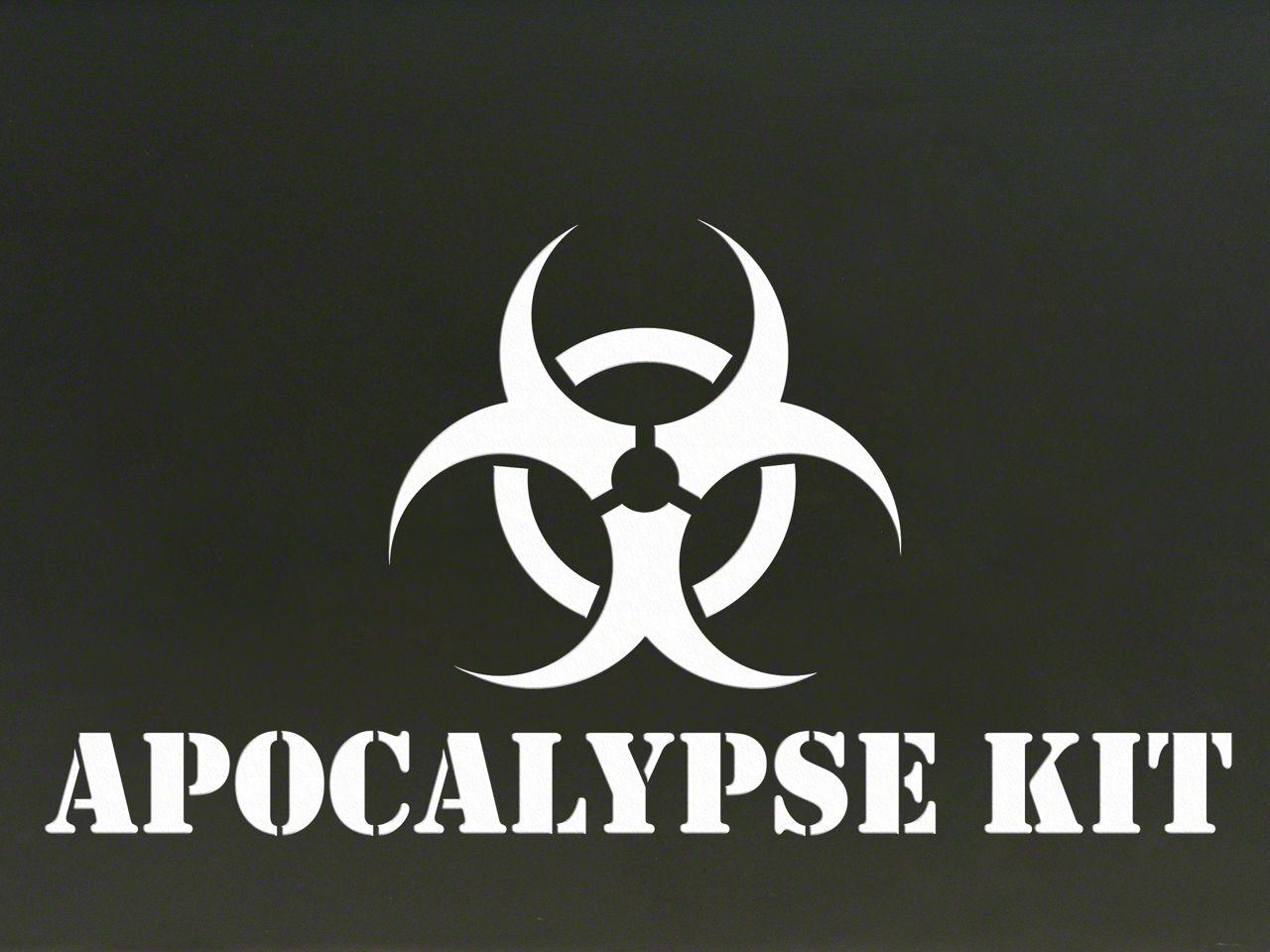 Apocalypse Kit Decal - White (87-19 Jeep Wrangler YJ, TJ, JK & JL)