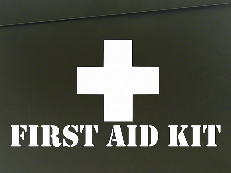First Aid Kit Decal - White (87-19 Jeep Wrangler YJ, TJ, JK & JL)