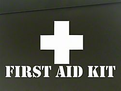SEC10 First Aid Kit Decal; White (87-21 Jeep Wrangler YJ, TJ, JK & JL)