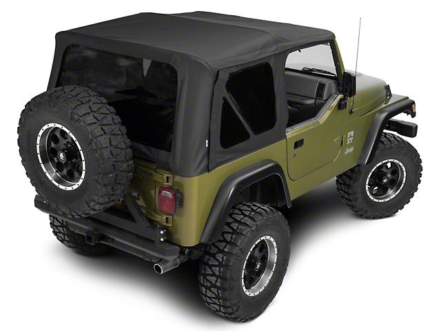 Rampage Complete Soft Top w/ Frame & Hardware; Black Diamond (97-06 Jeep Wrangler TJ)