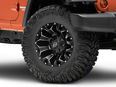 Fuel Wheels Assault Black Machined Wheel - 17x9 (07-18 Jeep Wrangler JK; 2018 Jeep Wrangler JL)