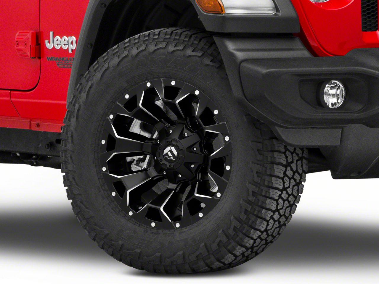 Fuel Wheels Jeep Wrangler Assault Satin Black Machined Wheel 18x9 D54618902645 18 21 Jeep Wrangler Jl
