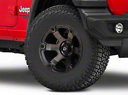 Fuel Wheels Beast Matte Black Machined Wheel; 17x9 (18-20 Jeep Wrangler JL)