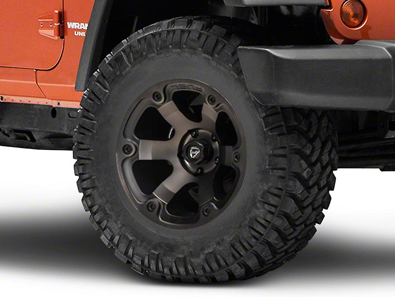 Fuel Wheels Beast Black Machined Wheel - 17x9 (07-18 Wrangler JK; 2018 Wrangler JL)