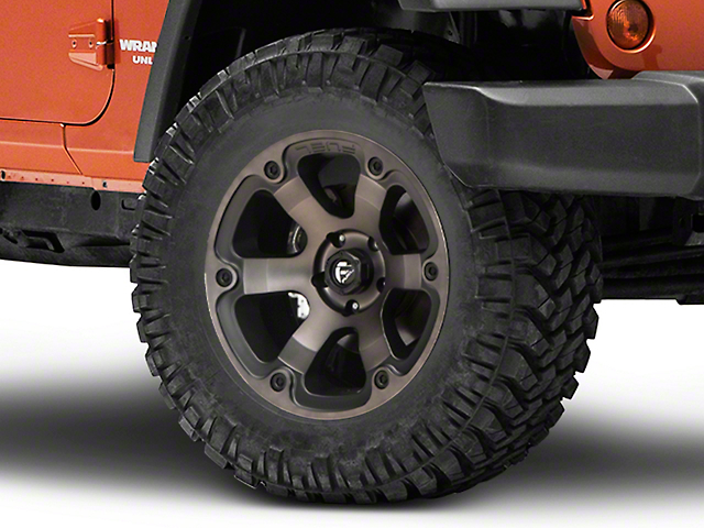 Fuel Wheels Beast Matte Black Machined Wheel; 18x9 (07-18 Jeep Wrangler JK)