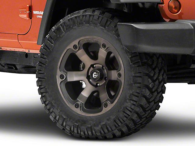 Fuel Wheels Beast Matte Black Machined Wheel; 18x9 (07-18 Jeep Wrangler JK)
