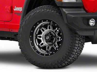 Fuel Wheels Hostage III Gunmetal & Black Wheel - 17x9 (18-19 Jeep Wrangler JL)