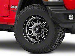 Fuel Wheels Hostage III Gunmetal and Black Wheel; 17x9 (18-20 Jeep Wrangler JL)