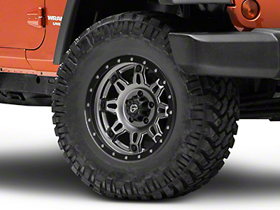 Fuel Wheels Hostage III Gunmetal & Black Wheel - 17x9 (07-18 Wrangler JK; 2018 Wrangler JL)
