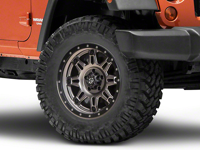 Fuel Wheels Hostage III Gunmetal & Black Wheel - 18x9 (07-18 Jeep Wrangler JK)