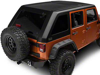 DV8 Off-Road Ranger Fastback Hard Top 2 Piece (07-18 Jeep Wrangler JK 4 Door)