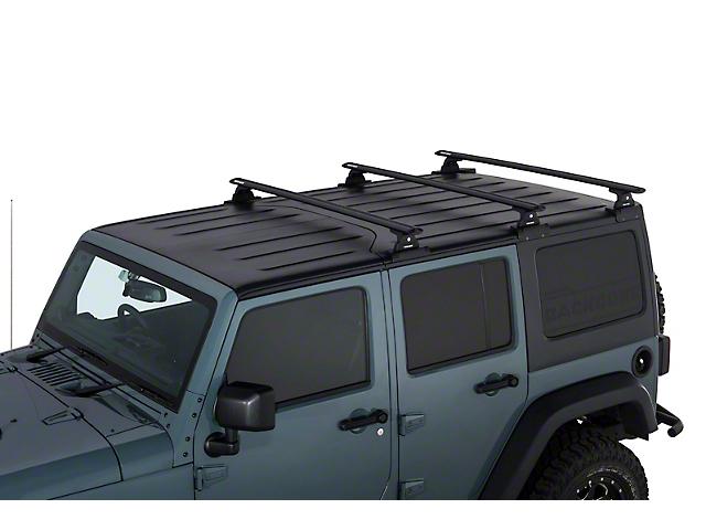 Rhino Rack Jeep Wrangler Vortex Rlt600 Black 3 Bar