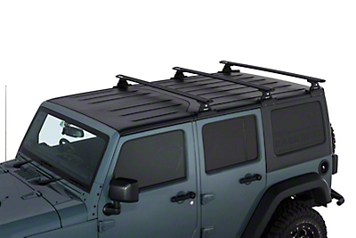 Rhino-Rack Vortex RLT600 Black 3 Bar Backbone Roof Rack (07-18 Wrangler JK 4 Door)