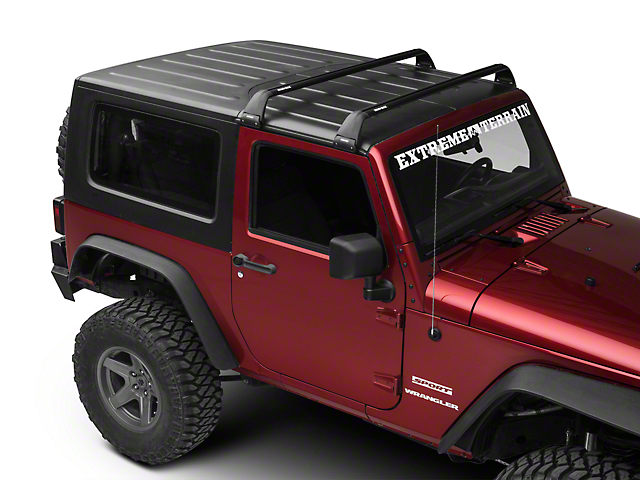 Rhino-Rack Vortex SG 2 Bar Roof Rack; Black (07-21 Jeep Wrangler JK & JL 2 Door)