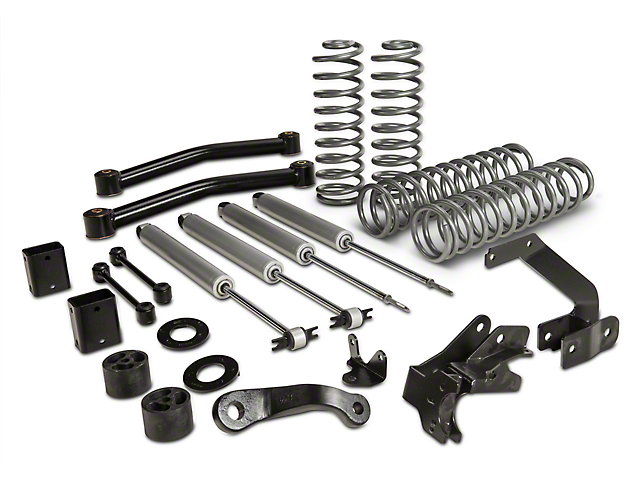 Rough Country 3.5 in. Series II Lift Kit w/ Shocks (07-17 Wrangler JK 2 Door)