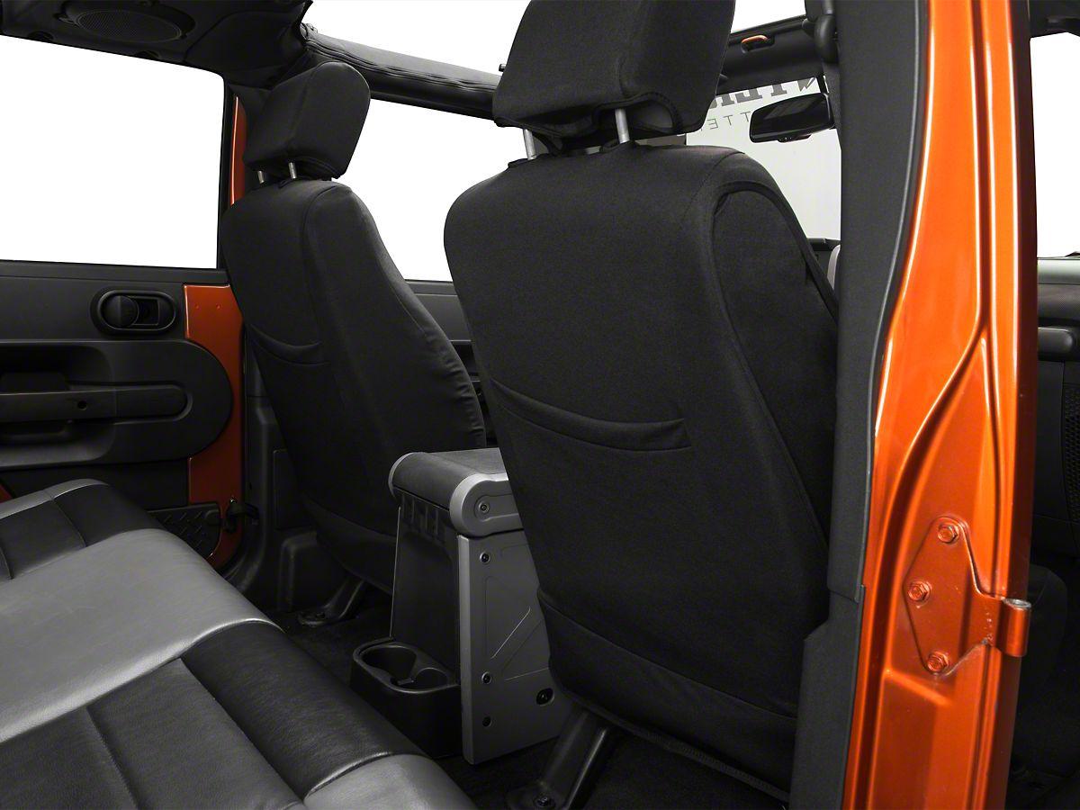 Pleasant Barricade Custom Trailproof Front Seat Covers W Pockets Black 07 18 Jeep Wrangler Jk Evergreenethics Interior Chair Design Evergreenethicsorg