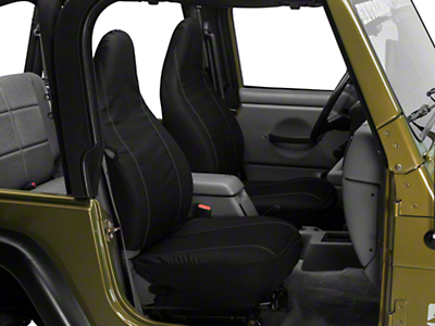 Barricade Custom Front Seat Covers - Black w/ Pockets (97-06 Wrangler TJ)