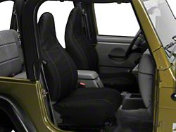 Barricade Custom Seat Cover - Front, Black w/ Pockets (97-02 Jeep Wrangler TJ)