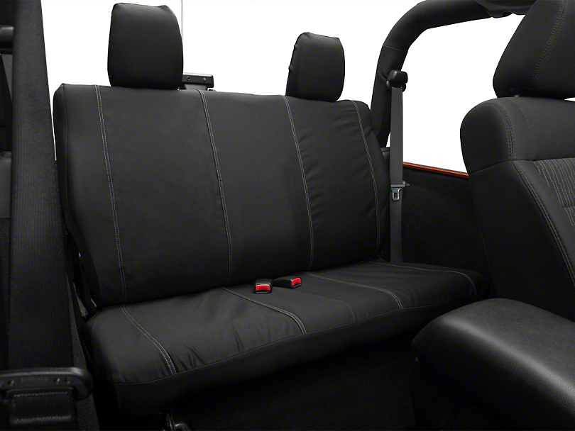 Barricade Custom Rear Seat Cover; Black (07-18 Jeep Wrangler JK 2 Door)