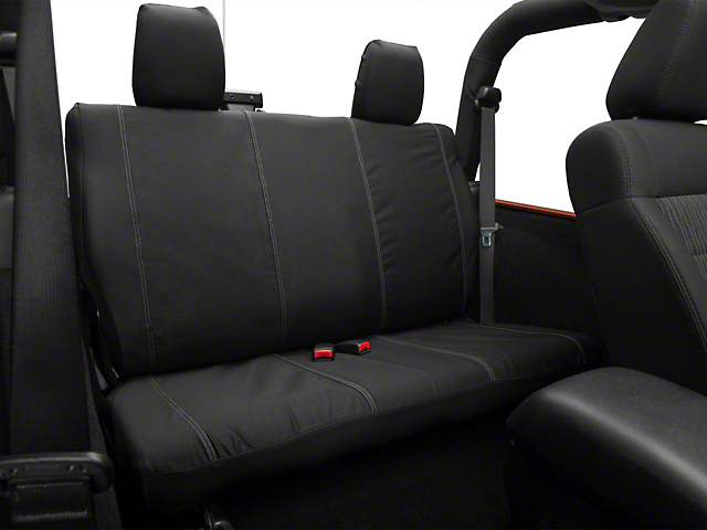 Barricade Custom Rear Seat Cover - Black (07-18 Wrangler JK 2 Door; 2018 Wrangler JL 2 Door)