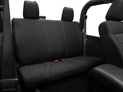 Barricade Custom Rear Seat Cover - Black (07-18 Wrangler JK 2 Door)