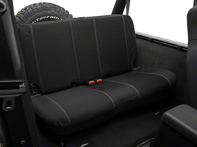 Barricade Custom Rear Seat Cover - Black (97-06 Jeep Wrangler TJ)