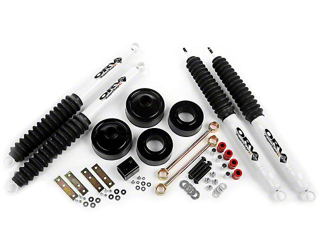 Rugged Ridge 1.75 in. Spacer Lift w/ Shocks (07-18 Jeep Wrangler JK)