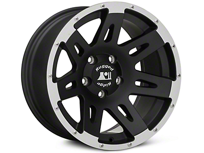 Rugged Ridge XHD Black Machined Wheel - 17X9 (07-18 Wrangler JK; 2018 Wrangler JL)