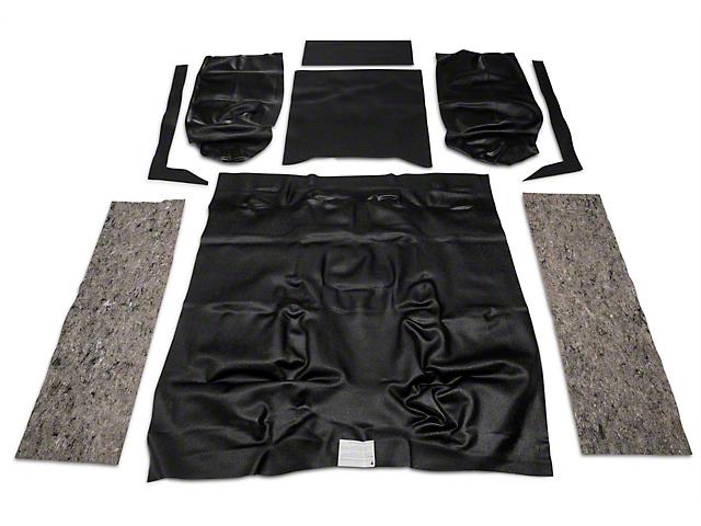 OPR Complete Vinyl Flooring w/o Rocker Panels - 6 Side Panels & Tailgate - Black (87-95 Jeep Wrangler YJ)