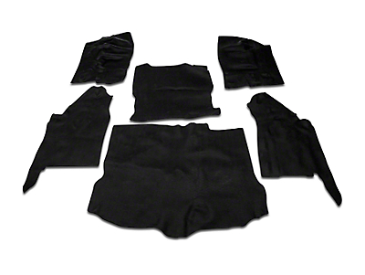 OPR Complete Vinyl Flooring Kit - Black (11-18 Wrangler JK 4 Door)