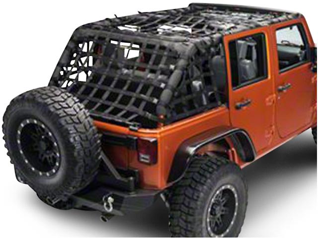 Dirty Dog 4x4 Full Netting Kit; Black (07-18 Jeep Wrangler JK 4 Door)