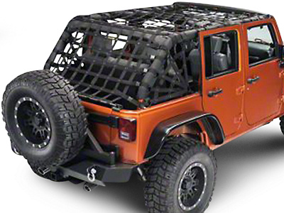 Dirty Dog 4x4 Full Spider Netting Kit - Black (07-18 Jeep Wrangler JK 4 Door)