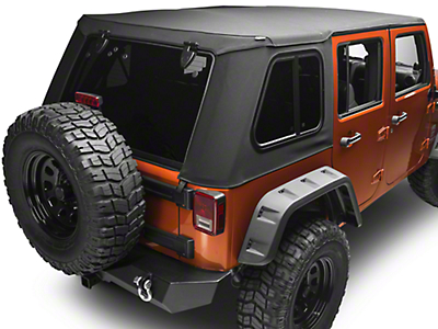 Bestop Trektop Pro Hybrid Soft Top - Black Twill (07-18 Wrangler JK 4 Door)