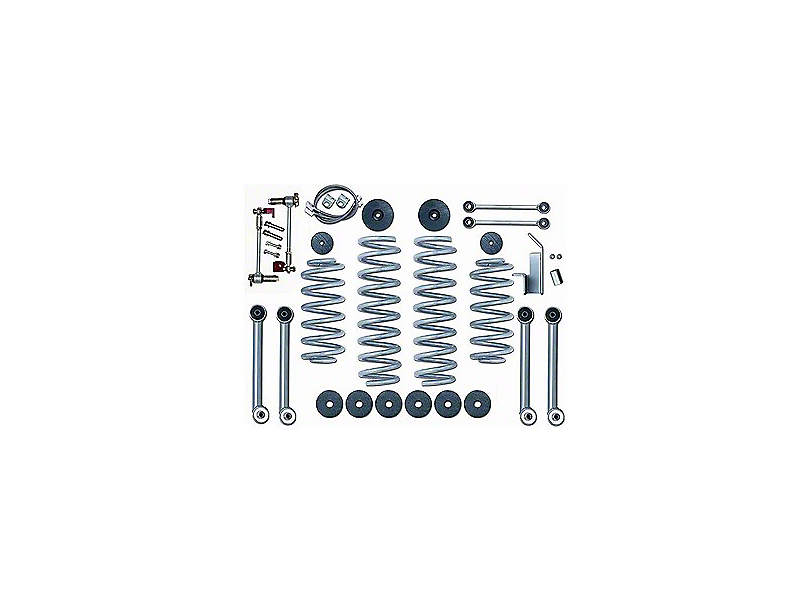 Rubicon Express 3.5 in. Super-Flex Lift Kit w/o Shocks (97-06 Jeep Wrangler TJ)