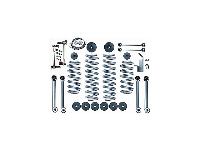 Rubicon Express 3.5 Inch Super-Flex Lift Kit w/o Shocks (97-06 Jeep Wrangler TJ)
