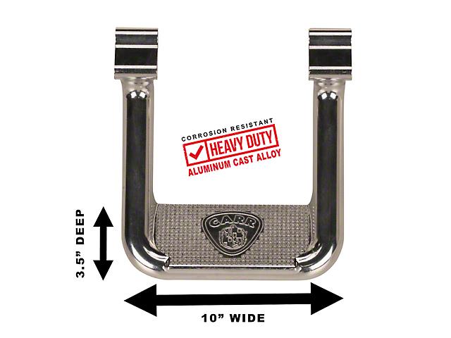 Carr Hoop II Side Steps; Polished (07-18 Jeep Wrangler JK)