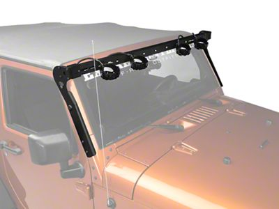 Add Carr XRS Rota Light Bar - Black Powder Coat (07-17 Wrangler JK)