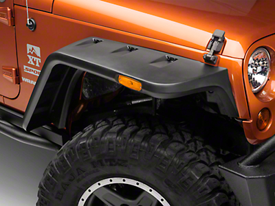Rugged Ridge Hurricane Fender Flare Kit - Smooth Black (07-18 Wrangler JK)